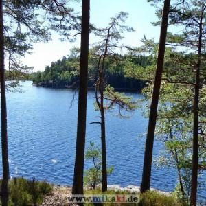 Mehrtägige Kanutour mit Hund in Schweden